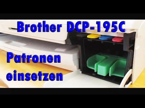 Erkennen unmöglich, oder doch? - Brother DCP195C Patronen einsetzen [HD+] | Deutsch