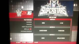 WWE 2k16 MyCareer (Xbox 360 - PS3)