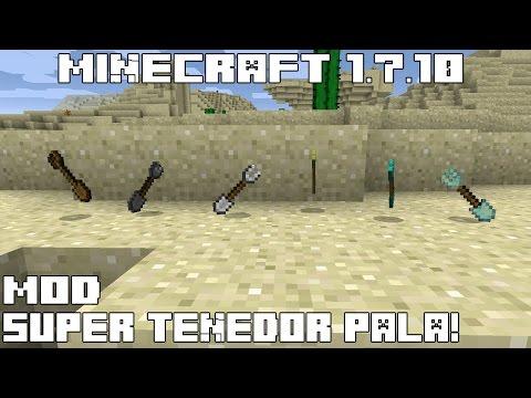 Minecraft 1.7.10 MOD SUPER TENEDOR PALA! Sporks Mod Español!