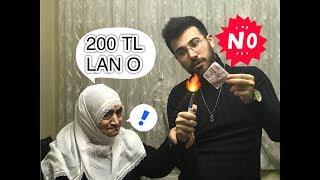 EVİN ORTASINDA 200 TL YAKTIM! ANANE TEPKİ!