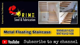 Product: Metal Floating Staircase                             By: Prime Steel & Fabrication 📍Modasa