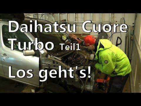 Daihatsu Cuore 130 PS |  Turbo Teil 1 | Motor raus!
