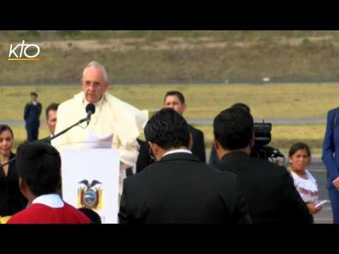 Le pape François est arrivé en Equateur