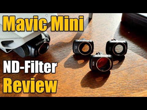 DJI Mavic Mini ND Filter Footage Comparison Review ND4 ND8 CPL MCUV