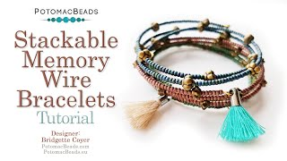 Stackable Memory Wire Bracelets - DIY Jewelry Making Tutorial By PotomacBeads