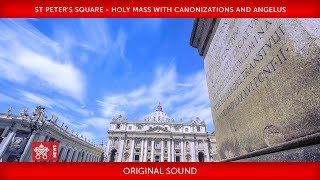 Pope Francis - St Peter's Square - Holy Mass with Canonizations and Angelus - 2018-10-14