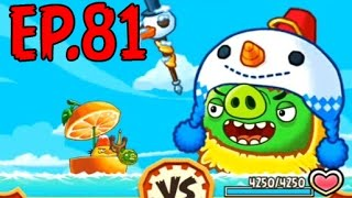Angry Birds Fight! - MONSTER SUPER SNOWMAN PIG - RARE MUSIC NOTE CAP (RED SS) - EP81