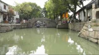 Video : China : TongLi 同理 canal boat ride, JiangSu province