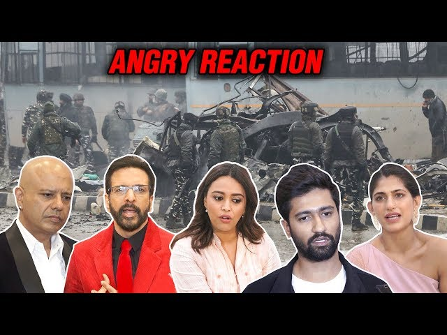 Bollywood Stars ANGRY REACTION On Pulwana Attack | Swara Bhaskar, Vicky Kaushal, Amit Sadh