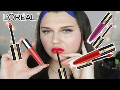 Neu L'Oreal Rouge Signature Lippenstift 💄 Livetest 👀 | Emiliawol