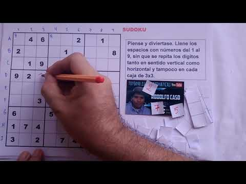 (1) Cómo resolver un SUDOKU. NIVEL MUY FÁCIL