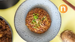 Yam Rice | Taro rice  | One pot rice dish [Nyonya Cooking]
