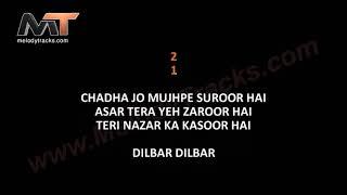 Dilbar Dilbar    Karaoke Neha Kakkar   Dhvani Bhanushali   Ikka   Melodytracks.com