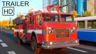 Мультики про пожарные машины для мальчиков. Рабочие машины для детей