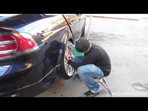 Acura TL camber and coilovers adjustment with new Work wheels