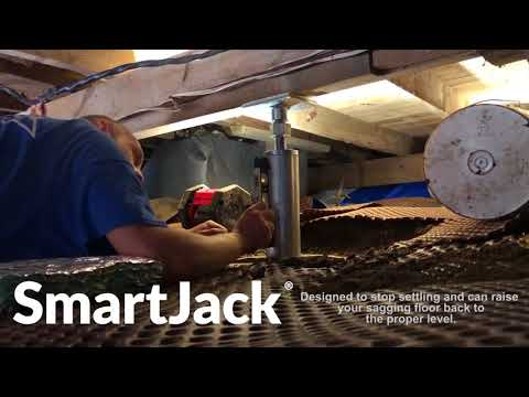Our Patented SmartJack® is a great way to add additional support to your foundation! They are easy to install, and super effective. Fix your sagging or sloping floors now with SmartJacks®!