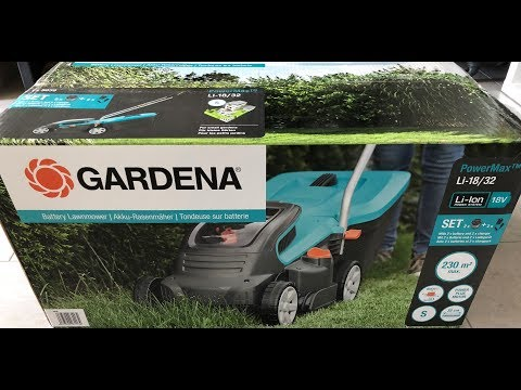 Gardena Powermax Li-18/32 Unboxing [HD]