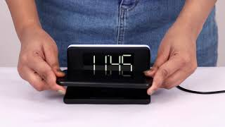 Freedom 4 - Desktop Wireless Charger with Alarm Clock & Led Lamp