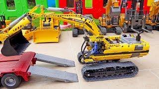 중장비 자동차 장난감 조립놀이 도와주기 구출놀이 Car Toy Rescue Helps Assembly