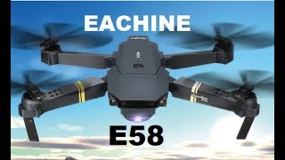 EACHINE E58 SETUP 1ST FLIGHT FPV Quadcopter Wind TEST Wide angle 720P Review