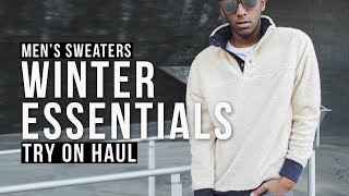 Mens Sweaters: How To Wear A Turtleneck + Oversized Sweaters | Mens Clothing Haul | Keani White