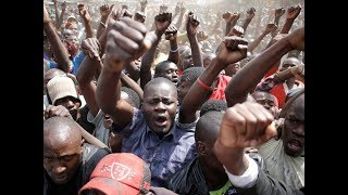NASA supporters react to the postponement of Raila Odinga's swearing-in