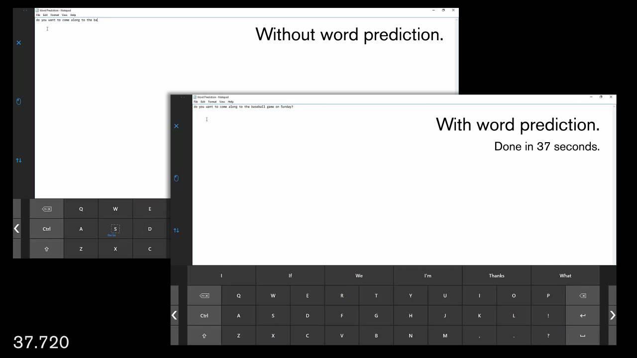 Gaze Selection: SwiftKey Demo (Win 10)