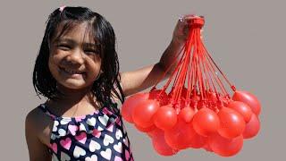Water Balloons Fun with Sophia