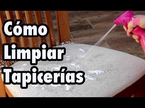 Cómo limpiar la tapicería de las sillas, del sofá o del coche