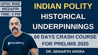 L1: Historical Underpinnings | 60 Days Crash Course for Prelims 2020 | Sidharth Arora