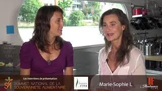Interview de présentation des intervenants du Sommet : Marie Sophie L