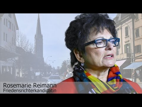 Rosemarie Reimann, Friedensrichterkandidatin
