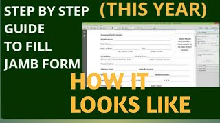 HOW TO FILL JAMB FORM 2021 | HOW THOSE 2021 JAMB FORM LOOK LIKE |#JAMB #2021 JAMB REGISTRATION