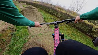 WINTER RIDING THE BACKYARD JUMPS AND PIT BIKE TRACK!!