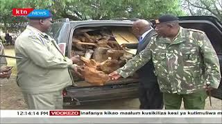 Polisi wanasa mbao ya \'sandle wood\' yenye thamani ya shilingi milioni mbile Samburu