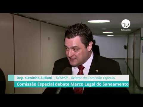 Relator defende investimentos em saneamento básico - 05/09/19