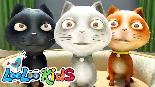 🐱 Three Little Kittens 🐱 THE BEST Songs for Children | LooLoo Kids