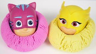 Learn Colors With Pj Masks Toys Kinetic Sand Color Bathtubs Water Balloons Pop and Paints