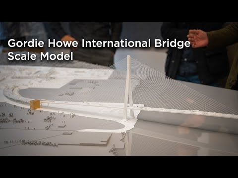 Gordie Howe International Bridge Scale Model