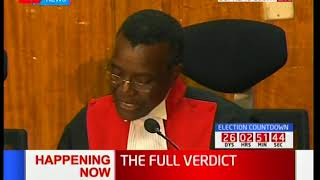 CJ Maraga insists that there were irregularities during the general elections