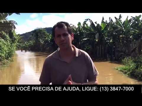 Mais de 50 famílias estão desabrigadas em Miracatu O nível do rio está mais de 7m acima do normal e deixou diversas famílias desabrigadas
