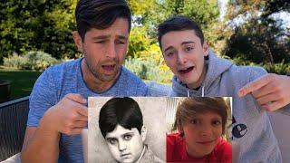 JOSH PECK and I React To Our Cringiest Photos! | Noah Schnapp