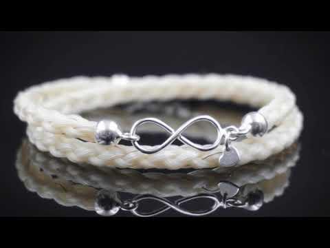 Equiartes - Schmuck aus Pferdehaar - Infinity Wickelarmband
