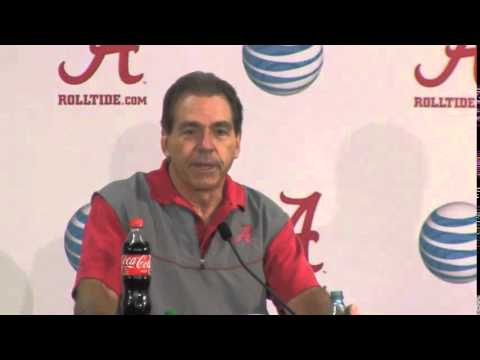 Nick Saban Reacts to Will Muschamp Question, Dec. 16