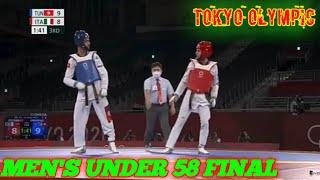 ITA VS TUN Men's U – 58 Kg Final match Taekwondo Tokyo Olympic 2021
