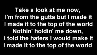 Ace Hood : Top of The World Lyrics on the Screen