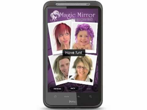 Video of Magic Mirror Demo, Hair styler