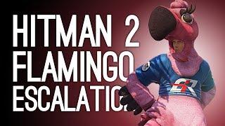 Hitman 2 Escalation Gameplay: FLAMINGO EXIT! (Let's Play Bigmooney Flamboyancy Escalation Mission)