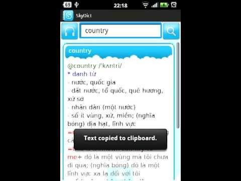 Video of Từ điển SkyDict