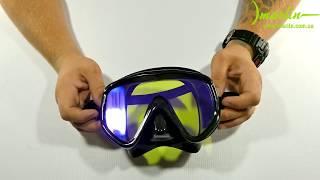 Маска для плавания и охоты Marlin VISUALATOR с просветленным, тонированным стеклом. от компании МагазинCalipso dive shop - видео